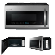 Samsung Chef Collection 2 1 Cu Ft Over The Range Microwave Me21h9900as New