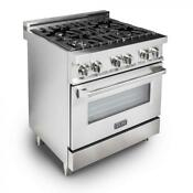 30 New Zline Stainless Steel 4 0 Cu Ft 4 Gas Burner Electric Oven Range E30 40
