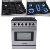 30 Inch Kitchen Stainless Steel Stand Gas Range Gas Oven Cooker Cooktop R5l6
