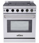 30 Pro Style Stainless Steel Gas Thor Range 5 Burner Similar Viking Wolf Dcs