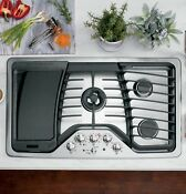 Ge Pgp986setss Profile 36 Gas Cooktop Stainless Steel Floor Sample