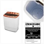 Mini Portable Washing Machine W Spin Dryer Compact Twin Tub 13ibs Apartment New