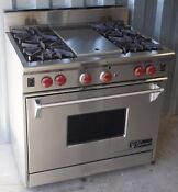 Wolf Professional 36 Stainless Gas Range 4 Burner 11 Griddle R364g As36ki 6