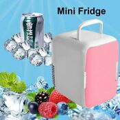 4l Portable Mini Fridge Cooler Warmer Auto Car Boat Home Office Ac Dc Pink Fh