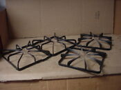 Ge Gas Range Burner Grate Very Stained Lot Of 4 Part Wb31k10028
