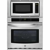 27 Electric Wall Oven Combination Microwave Combo 49603 Kenmore Stainless Steel