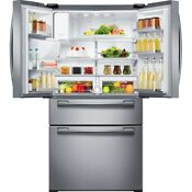 33 In Refrigerator Ice Maker 4 Door French Door 24 73 25 Cu Ft Stainless Steel