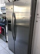 Whirlpool Refrigerator Wsf26c2exy02 Stainless Steel Side By Side 25 Cu Ft
