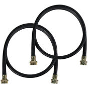 Certified Appliance Washing Machine Hoses 2 Pack 5 Ft Length Black