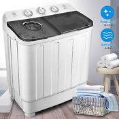 17lbs Portable Mini Twin Tub Compact Washing Machine Washer Spin Dryer W Hose