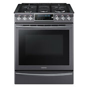 Samsung Samsung Nx58k9500wg Aa 5 8 Cu Ft Slide In Gas Range With Convection