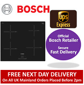 Bosch Pue611bf1b 60cm Induction Hob In Black 13amp Plug 2 Year Warranty