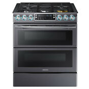 Samsung Samsung Nx58k9850sg Aa 5 8 Cu Ft Slide In Gas Flex Duo8482 Range