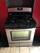 Amana 30 Agr5330bas Stainless Steel Free Standing Gas Range 5 1 Cu Ft