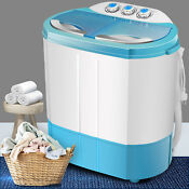 Mini Top Load Washing Machine Laundry Washer And Dryer Stainless Steel Twin Tub