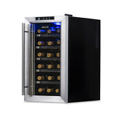 Newair Silent Wine Refrigerator 18 Bottle Capacity Aw 181e Stainless Steel
