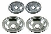 Electric Stove Ranges Drip Pan Set Replacement Part Frigidaire Kenmore Chrome