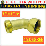 45 Degree Copper Washing Machine Connector 3 4 X 3 4 In Pipe Thread Inlet Hose