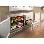 Alfresco 42 Inch 7 2 Cu Ft Under Grill Outdoor Rated Refrigerator