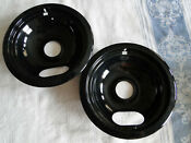 Lot Of 2 Kitchenaid Electric Cooktop Black 6 Burner Trays Drip Pans