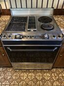 Vintage Stainless Jenn Air Savory Centre 30in Range Oven Works Willing To Ship