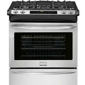 Frigidaire Gallery Fggs3065pf 30 Stainless Steel Slide In Gas Range New