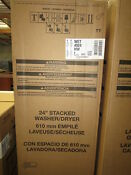Whirlpool Wet4024hw 1 6 Cu Ft Stacked Laundry Center 6 Wash Cycles And Autodry