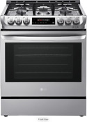 Lg 30 Gas Slide In Range With 6 3 Cu Ft Stainless Steel Lsg4511st