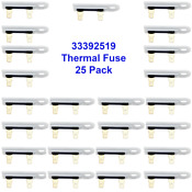 3392519 Dryer Thermal Fuse For Whirlpool Sears Kenmore 25 Pack Bulk Wholesale
