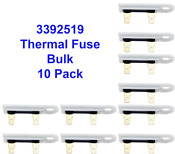 3392519 Dryer Thermal Fuse For Whirlpool Sears Kenmore 10 Pack Bulk Wholesale