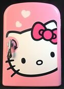 Hello Kitty Pink Personal Portable Mini Fridge W Handle Thermoelectric Cold Hot