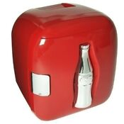 Retro Red Coca Cola Coke Mini Fridge Compact Personal Refrigerator Office Dorm