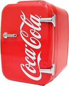 Retro Red Coca Cola Coke Mini Fridge Compact Personal Refrigerator Cooler Warmer