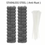 24 Pieces Lint Traps Stainless Steel Washing Machine Lint Snare Traps Washer Ho
