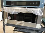 New Open Box 27 Built In Microwave Oven Convection Kmbp107ess Kitchenaid