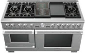 Thermador Pro Grand Series Prd606rcsg 60 Stainless Steel Dual Fuel Range