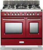 Verona Classic Series Vclfsge365dr 36 Pro Style 5 Burner Red Dual Fuel Range