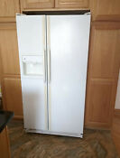 Ge Refrigerator Fridge 36 Full Size White Side By Side Ice Maker