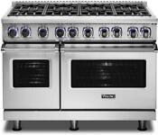 Viking 48 Pro Style Freestanding Gas Range With 8 Burners Vgr74828bss