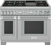 Thermador Pro Grand 48 Inch 6 Sealed Star Burners Pro Style Gas Range Prg486wdg