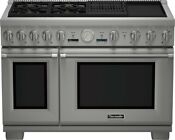 Thermador Pro Grand Prd484ncgu 48 Pro Style Stainless Steel Dual Fuel Range