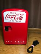 Official Coca Cola Mini Fridge 2013 Model Kwc 4 Warm Or Cold Tested And Works