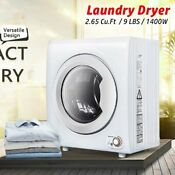 New 1400w 2 65 Cu Ft Compact Laundry Dryer 9 Lbs Portable Clothes Dryer Heating