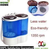 Mini Compact Portable Washing Machine Twin Tub Washer Dryer Energy Saving 14 6ib