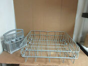 Bosch Dishwasher Lower Dish Rack W Silverware Basket Part 239132