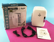 Cooluli Cmf4lw Ac Dc Portable Mini Fridge Electric Cooler Warmer 4 L U0000