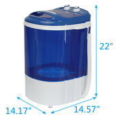 9lbs Mini Washing Machine With Washer Spinner Gravity Drain Pump Hose Save Time