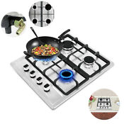 Used 23 2 Built In Cooktop 4 Burners Stove Natural Gas Hob Cooker Black Us