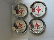General Electric Gas Stove Drip Pans Set 4 Chrome Plate For Ge Kenmore Rca New