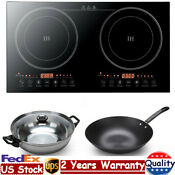 Electric Dual Digital Induction Cooker Cooktop 1400w Countertop Burner Black Usa